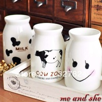 SKU44028 Zakka milk cup 2-illust cow ceramic cup breakfast mug cup  lovers cup size 10.5mm*6mm and 250ml