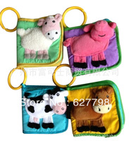 The baby Softplay cognitive/bell cloth book 0 and 1 year old stereo animal books lathe with hanging