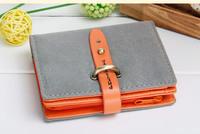 Hot sale 2013 women's short design wallet vintage women's nubuck leather wallet  gift+freeshipping