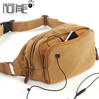 Canvas waist pack male sports small bag outdoor travel casual mobile phone chest pack female 6018