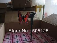 Free shipping 72pcs Solar Power Flying Butterfly Garden Yard Decoration solar butteryfly
