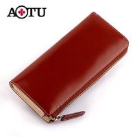 Aotu 2013 women's wallet luxury japanned leather cowhide wallet female long design wallet zipper clutch