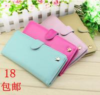 Premium Women's wallet long design hasp wallet candy color sweet multi card holder zipper wallet  gift+freeshipping