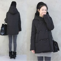 Winter 2013 wadded jacket women's medium-long with a hood cotton-padded jacket snow coat thickening outerwear