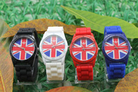 three leaf grasses UK Flag clocks and watches, beautiful fashion watch, fashion watch sports watches,