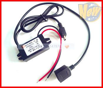 DC to DC Converter 12v to 5v step down  buck  module 1 female USB port+1 male mini usb plug