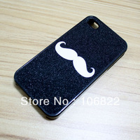 Cute White Beard Hard Back Case Cover for iPhone 4 4G 4S JS0320 Free Shipping