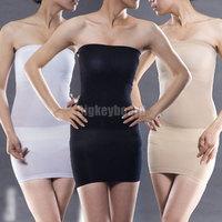Women Seamless Slimmng Control Body Shaper Tube Dress Slip Boob Tube Shapewear Free Shipping