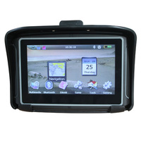 4.3 inch waterproof motorcycle GPS with 4GB nand flash and USB AV-IN