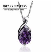 Free shipping!Sterling Silver charm pendants,2013 design 925 pure silver jewelry female drop AAA zircon crystal pendant uy-p031