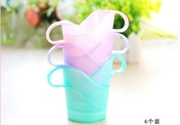 Hot Disposable cup holder kitchen tools colorful plastic Paper cups holders gifts Free Shipping