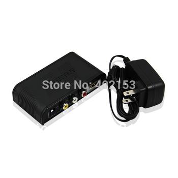 Hot Sale 720P/1080P CVBS RCA to HDMI Mini Converter Connector Black Wholesale Free Shipping #190181