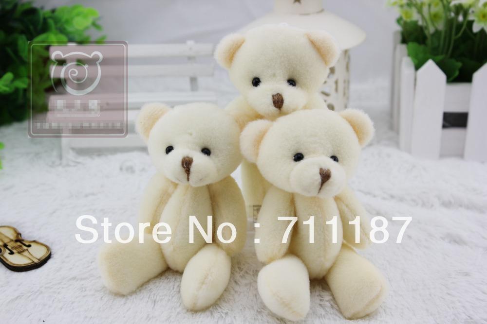 Wholesale Small Soft Teddy Keychain Cute Cotton Stuffing Animal Little Gifts Stuffed Bears 12-13CM Small Bear, Free Shipping(China (Mainland))