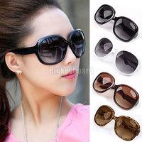 Fashion Hot Womens Ladies Summer Black Oversized Sunglasses Free Shipping