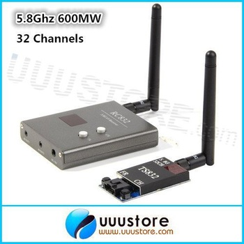 2013 NEW,FPV 5.8G 600mW 32 Channel Wireless Audio/Video A/V Transmitting/Receiving System Combo Module for  FPV, TS832+RC832