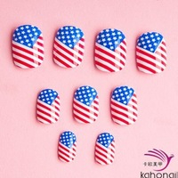 24 finished products nail art patch ol fashion brief national flag false nail patch nail art