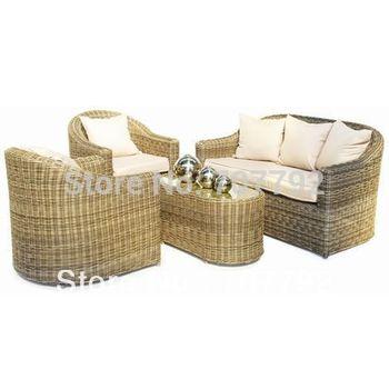 2015 modern balconies synthetic rattan outdoor sofa set