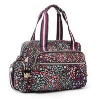 Casual nylon bag women's handbag 2013 shoulder big cross-body dual-use package purple travel bag