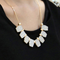 Bohemia accessories scrub rhombus design short necklace female necklace accessories