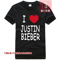 2013 justin bieber t-shirt b 100% cotton short-sleeve T-shirt clothes