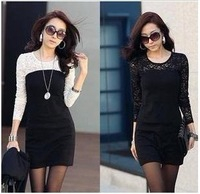 2014 new free shipping women ladies sexy cotton lace dress, maxi casual dress   spring and autumn promotio