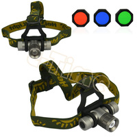 4pcs/Lot CREE Q5 300LM 3 Mode Zoomable LED Headlight Torch Light Head Lamp Wholesale  TK0381