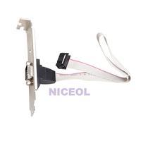 NI5L Motherboard RS232 DB9 Pin Com Port Ribbon Serial Cable Connector Bracket