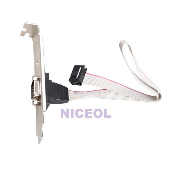 NI5L Motherboard RS232 DB9 Pin Com Port Ribbon Serial Cable Connector Bracket(China (Mainland))