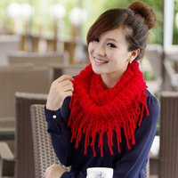 Best Selling!! Fashion Autumn And Winter Women's Scarf Tassels Woolen Scarf Neck Bib Scarf Free Shipping