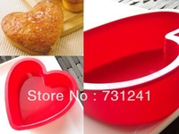 8 inch Heart Shaped Silicone Cake Mould Baking mould  High Quality 100% Food Grade