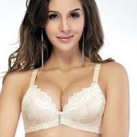 Rose embroidered massage bra underwear underwear women sexy seamless push up bra Bra gather Adjustable bra Seamless underwear