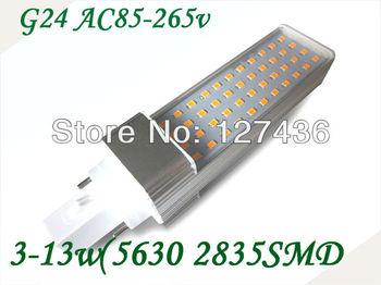 E27 /G24/B22 7W 2835 SMD 44 LEDs Corn Light Bulb Lamp 146mm  Warm White /White AC 85V-265V 360lumes 6pcs/lot