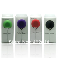 Hot Selling Multi Color Mini Balloon Speaker Audio Dock For iPod for iPhone PC Free Shipping by dhl