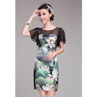 2013 summer new arrival women's slim silk one-piece dress women's