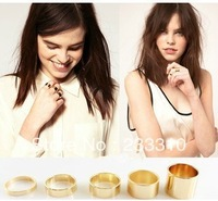 Free shipping ! 20Pcs(4sets)  gold silver tone punk wide band ring Knuckle Midi Mid rings Set
