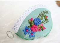 Butterfly ribbon embroidery three-dimensional embroidery coin purse handbags ab-005 kit
