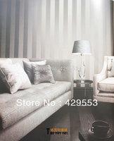 Vertical Stripe plaid wallpaper sofa tv background wallpaper