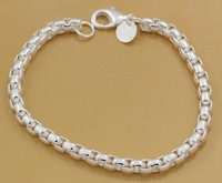 Wholesale lots 925 silver Fashion Jewelry Chain Bracelets, 925 Silver Bracelets Free Shipping GY-PB363