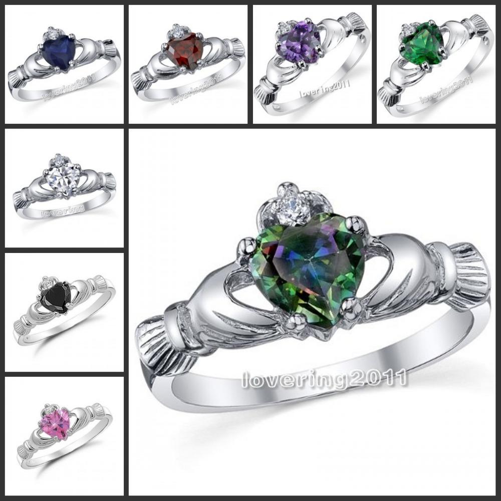 Claddagh Wedding Ring Set synrgyus