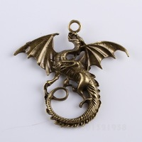 NEW 15pcs Fashion Dragon Animal Charm Antique Bronze Tone Alloy Pendant PD-1447669
