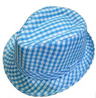 Child jazz fedoras hat fashion male child sunbonnet plaid fedoras