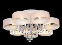 Free shipping most popular promotion sales Dia800*H400mm round design Modern Crystal ceiling light for living room and bedroom