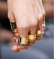 Min Order $10 (Can Mix Item ) Free Shipping, New Arrival Punk Gothic  Copper Cuff Finger Ring