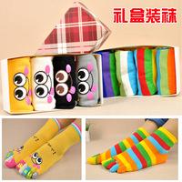 Free shipping Toe socks lovers  cotton socks popular gift box set five-toe socks 4pairs/box
