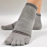 Free shipping  6pairs/lot  toe socks male  cotton short socks sweat absorbing anti-odor socks strengthen