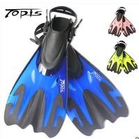 Professional submersible topis fins long big flipper adjustable snorkeling