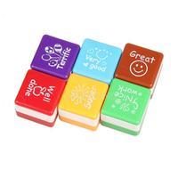 #Cu3 6 in 1 English Words Praise Reward Stamp Printing Set for Teachers