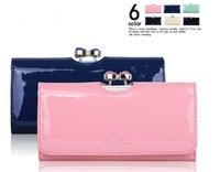 MG683 TED Bow candy genuine leather 100% solid clutch wholesale drop shipping free shipping