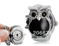 NEW BOZHI Owl Design Analog Ring Watch (Pink.black.white)+free shipping