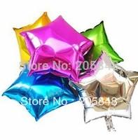 10pcs/lot 18inch Pentagram Star Shape Aluminium Foil Decal Balloons Party Wedding Docrative Toy Ballons